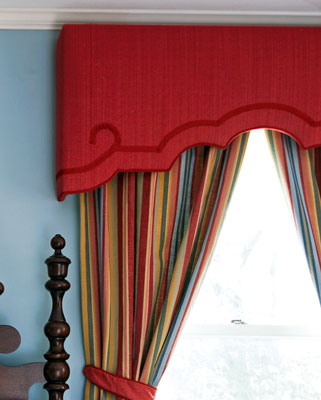 Upholstered cornice boards in Indianapolis IN