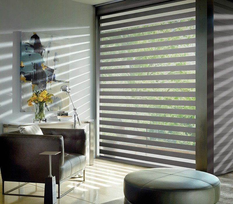 Indianapolis IN Modern Designer Banded Shades